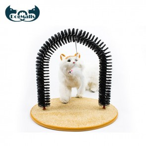 self grooming cat arch, cat self groomer arch, purrfect arch cat groomer, cat self groomer brush, cat self groomer, cat self groomer and massager