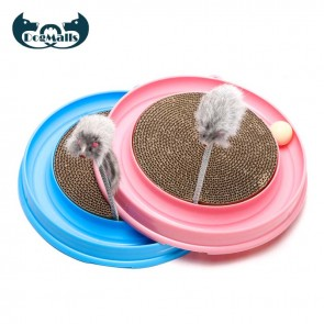 turbo scratcher cat toy, cat scratcher with ball, interactive cat toys, best interactive cat toys, interactive mouse pounce cat toy