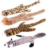 Animals Unstuffed Squeaky Dog Toys